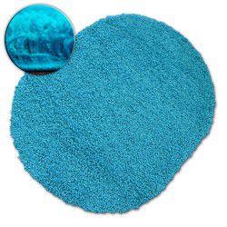 Carpet oval SHAGGY GALAXY 9000 aqua