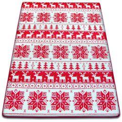 Carpet XMAS - F787 cream/red