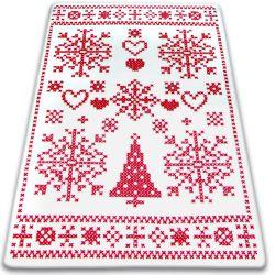 Carpet XMAS - F791 cream/red