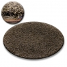 Carpet circle SHAGGY GALAXY 9000 brown