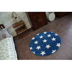 Carpet SKETCH circle - FA68 blue/white - Stars