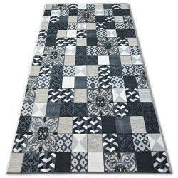 Carpet LISBOA 27218/356 Squares Plates Black Portugal