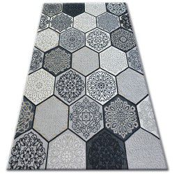 Carpet LISBOA 27212/356 Hexagon Honeycomb Grey