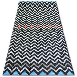 Carpet COLOR 19309/839 SISAL Zigzag Black