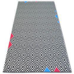Carpet COLOR 19306/236 SISAL Diamonds Squares Black