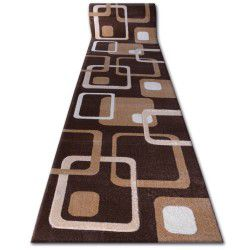 Runner HEAT-SET FRYZ FOCUS - F240 venge SQUARES brown cacao
