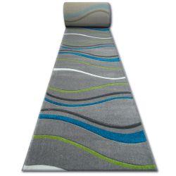 Runner HEAT-SET FRYZ FOCUS - 8732 turquoise WAVES DASHES STROKES marine