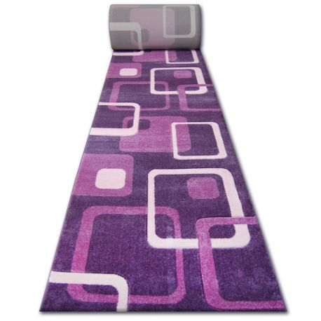 Runner HEAT-SET FRYZ FOCUS - F240 violet SQUARES purple