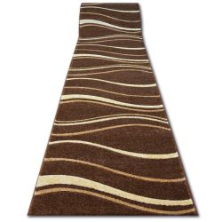 Runner HEAT-SET FRYZ FOCUS - 8732 brown wenge WAVES LINES cacao