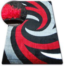 Carpet SHAGGY VERONA B058 black/red