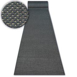 Runner SISAL FLOORLUX design 20433 black PLAIN
