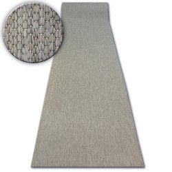 Runner SISAL FLOORLUX design 20433 taupe PLAIN