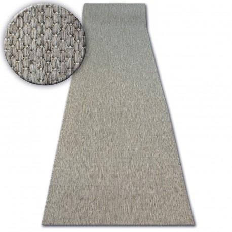 Runner SISAL FLOORLUX design 20433 taupe PLAIN