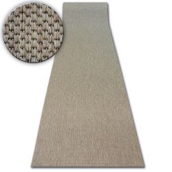 Runner SISAL FLOORLUX design 20433 coffee PLAIN