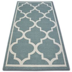 Carpet SKETCH - F730 turquoise/cream trellis