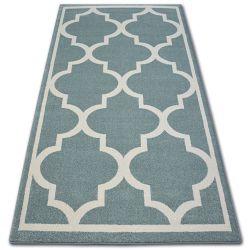 Carpet SKETCH - F730 turquoise/cream trellis