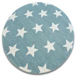 Carpet SKETCH circle - FA68 turquoise/cream - Stars