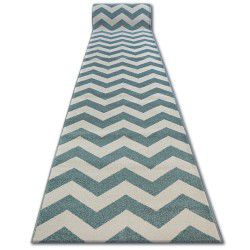 Runner SKETCH - FA66 turquoise/cream - Zigzag