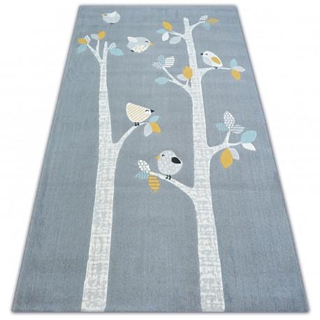 Carpet PASTEL 18405/072 - BIRDS grey