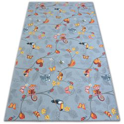 Fitted carpet for kids HAPPY TREE grey Owls Animals
