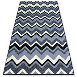 Carpet BCF BASE ZIGZAG 3812 black/grey