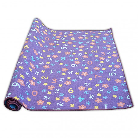 Carpet for children NUMBERS purple numbers, alphabet, digits