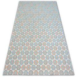 Carpet COLOR 19438/806 SISAL Hexagon Turquise Pink Cream