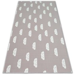 Anti-slip Carpet wall-to-wall for kids CLOUDS pink