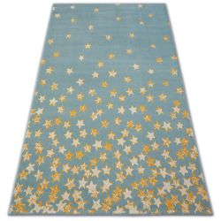 Carpet PASTEL 18408/032 - Stars turquoise gold cream