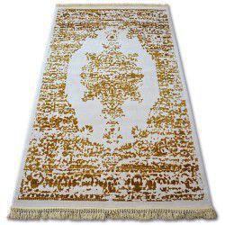 Carpet ACRYLIC MANYAS 192AA Ivory/Gold fringe