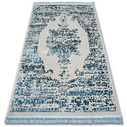Carpet ACRYLIC MANYAS 192AA Grey/Blue fringe