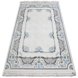 Carpet ACRYLIC MIRADA 0065 Cream/Blue ( Mavi ) Fringe
