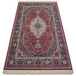 Carpet WINDSOR 12808 ROSETTE FRINGE TRADITIONAL red