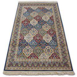 Carpet WINDSOR 22937 ROSETTE FRINGE TRADITIONAL navy