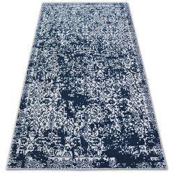 Carpet SENSE Micro 81260 VINTAGE white/navy