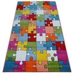 Carpet PAINT - G4775 Puzzle cream/blue