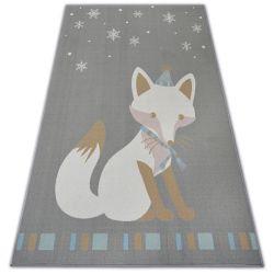 Carpet for kids LOKO Fox grey anti-slip