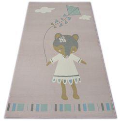 Carpet for kids LOKO Mouse pink Anti-slip