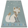 Carpet for kids LOKO Fox green anti-slip