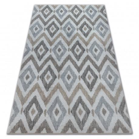 Carpet SOFT 6024 DIAMONDS cream / beige / brown