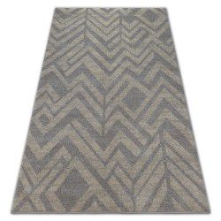 Carpet SOFT 8028 ETHNO HERRINGBONE brown / beige
