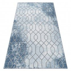 Carpet ACRYLIC VALENCIA 3951 HEXAGONS blue / grey