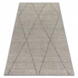 Carpet SOFT 8033 ETHNO DIAMONDS cream / light brown