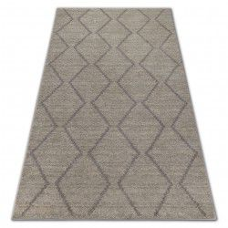 Carpet SOFT 8036 ETHNO DIAMONDS cream / light brown