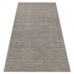 Carpet SOFT 8040 AZTEC BOHO cream / light beige