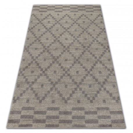 Carpet SOFT 8047 DIAMOND PATTERN cream / light brown