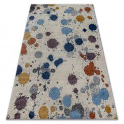 Carpet SOFT 6152 SPLASH white / grey / blue