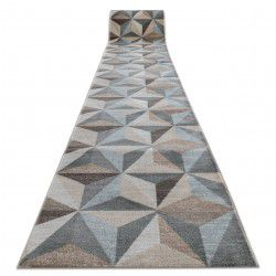 Runner ARGENT TRIANGLES 3D - W6096 beige / blue