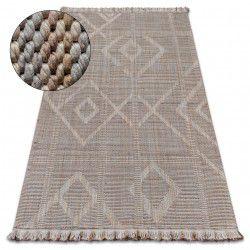 Carpet NATURE G2929 beige fringe SIZAL BOHO