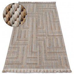 Carpet NATURE SL150 beige fringe SIZAL BOHO